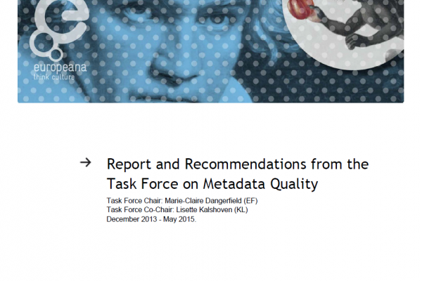 Metadata Quality Task Force Report