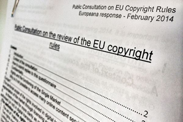 Europeana finalises and submits response to public consultation on EU copyright rules