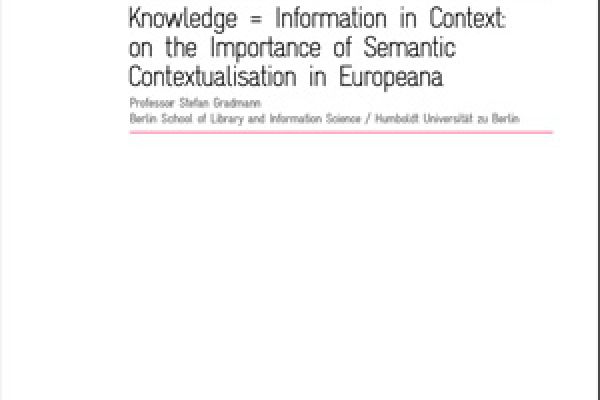 Knowledge = Information in Context