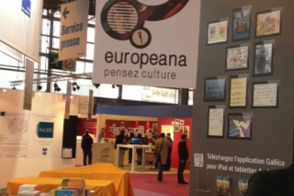 Welcoming VIPs at Paris Book Fair