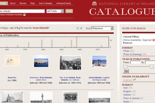 National Library of Ireland catalogue widget