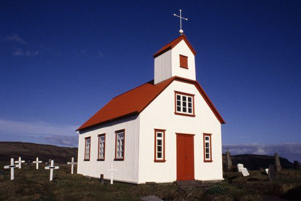 Photographs of buildings in Iceland