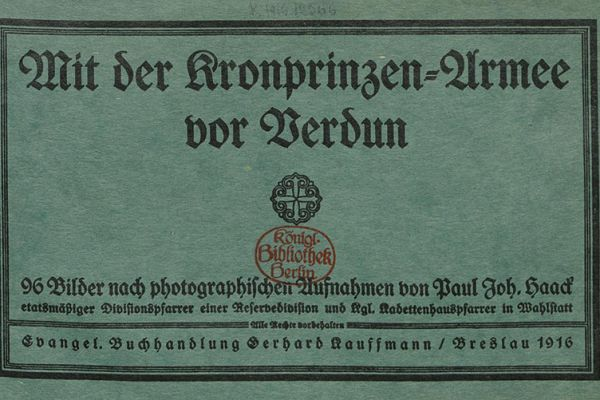 WWI collection of the Berlin State Library