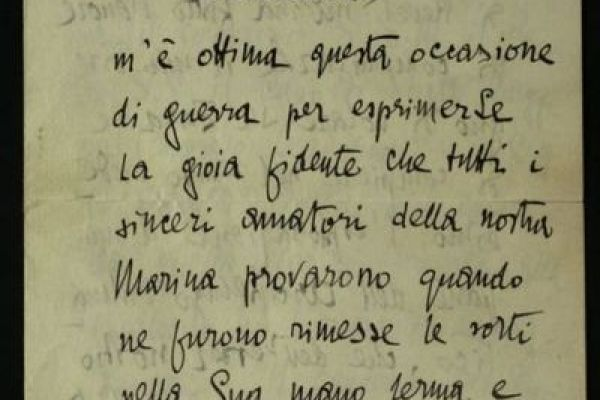 Letters by Italian personalities during World War One