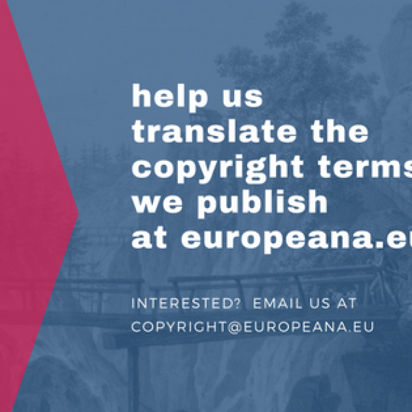 Can we achieve multilingual copyright information on Europeana?