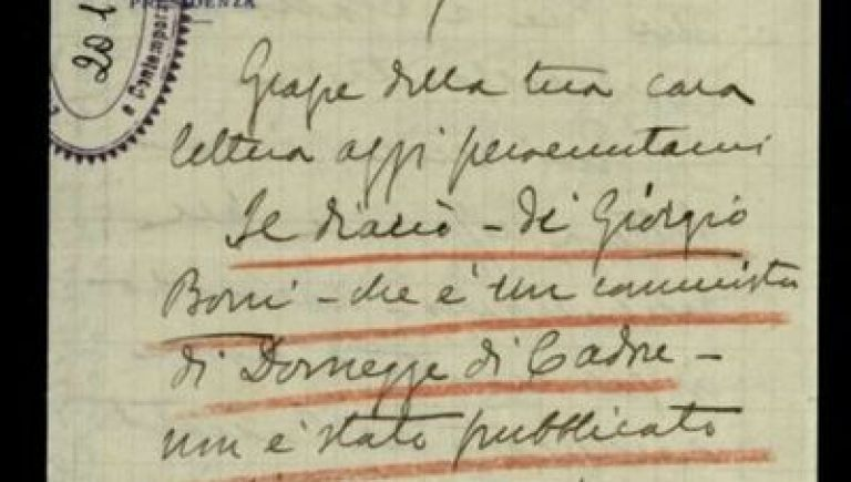 Italian diaries and letters World War One